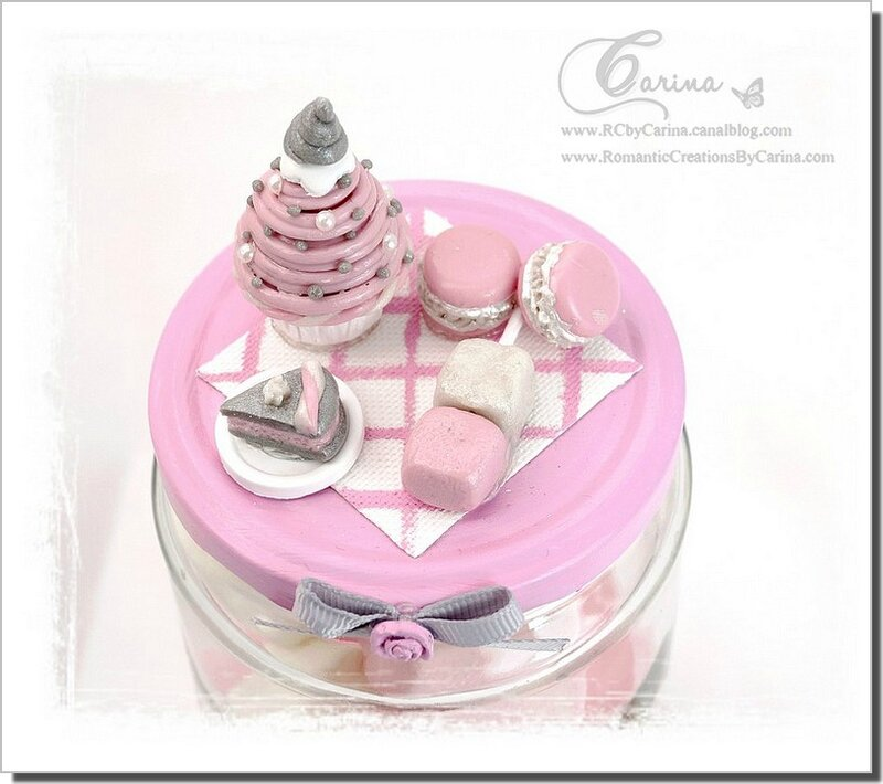 Pot gourmandises Rose & Gris 2