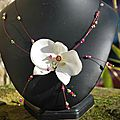 collier orchidée proposition pour Audrey