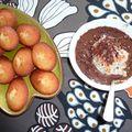 Iles flottantes au chocolat et madeleines à la fleur d'oranger