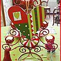 table de Noël rouge et anis 14