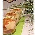 Trifle poire, confiture de lait et mousse mascarpone