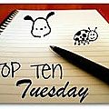 Top ten tuesday 1er mai 2012