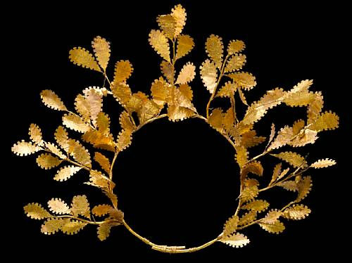 Glory That Was Greece Seen In Golden Wreath And Greek