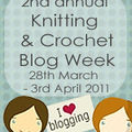 Knitting and crochet blog week, 2nd edition