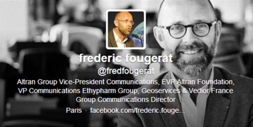 Profil Twitter de Frederic Fougerat