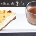 Cheesecake et sauce chocolat épicée