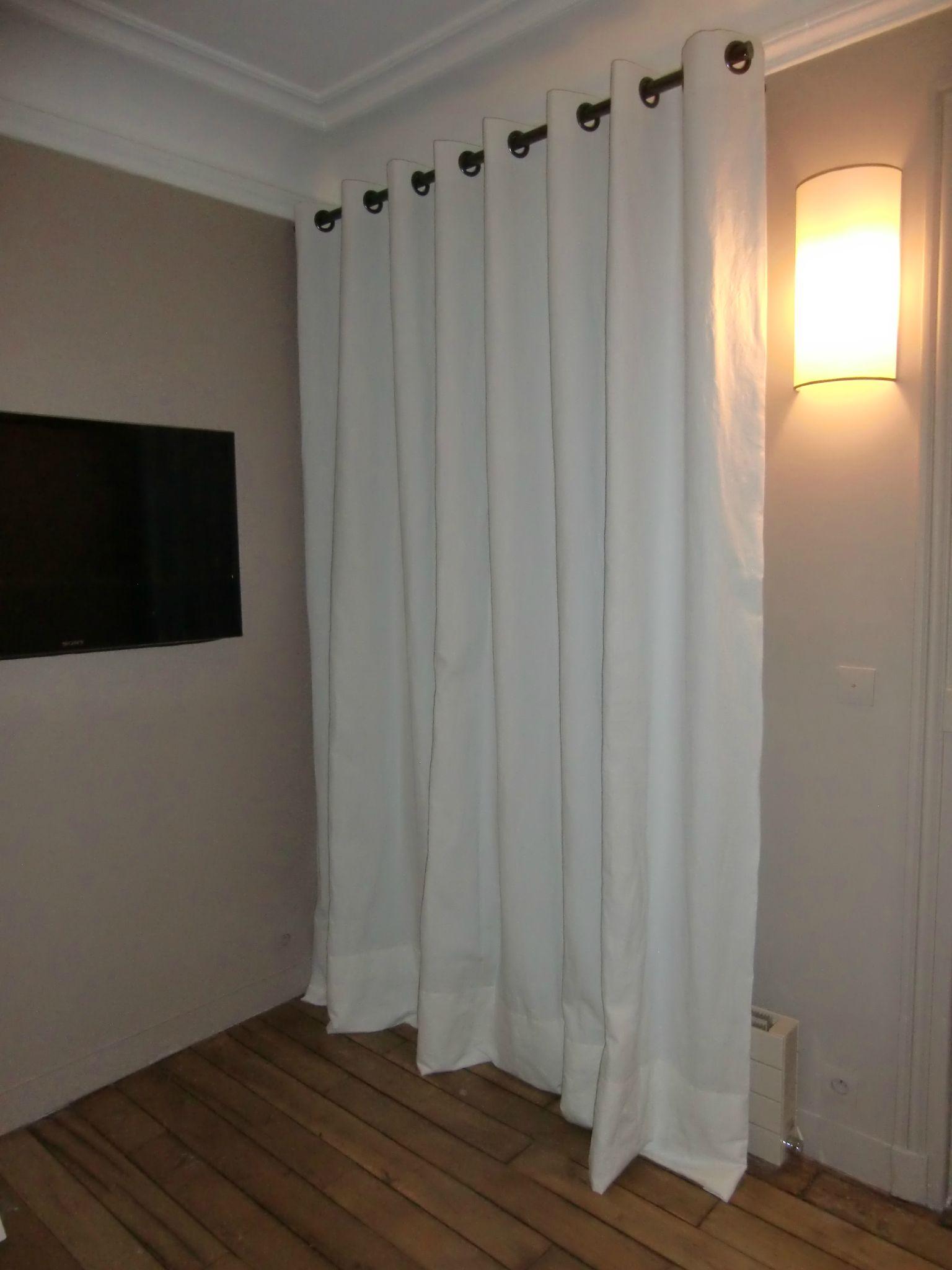 double-rideaux en coton blanc avec oeillets - Photo de Les rideaux ...
