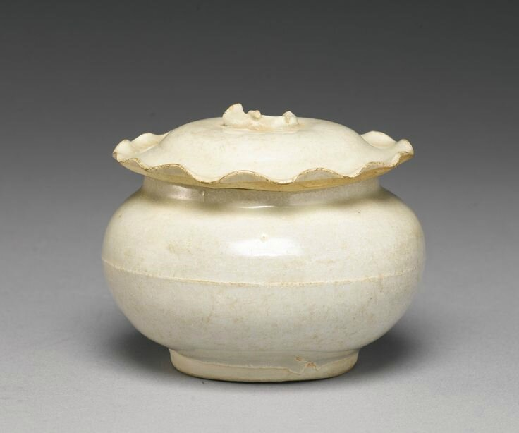 A small 'Qingbai' jar and cover, Yuan dynasty
