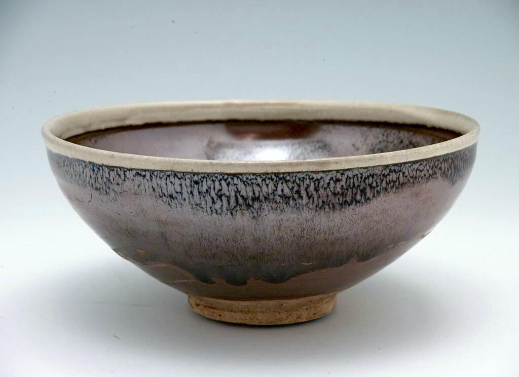 Bowl with White Rim and Five Russet Markings against a Subtle Hare's Fur Glaze, Jin dynasty, 12th-13th century