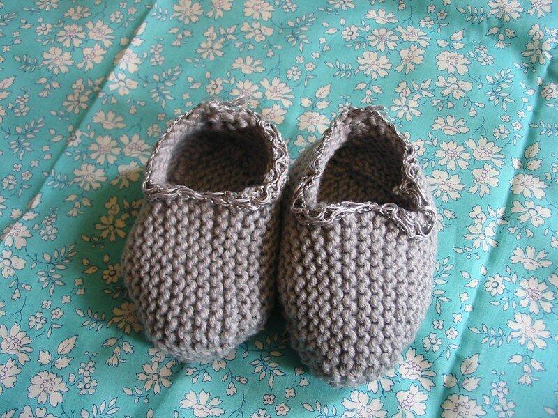 chaussons offerts par Sophie des Trésors de Baptiste