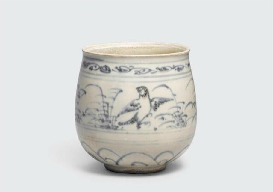 A small blue and white beaker, Lê dynasty, 15th-16th century