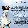 Kantik di maria, le cantique de marie en breton