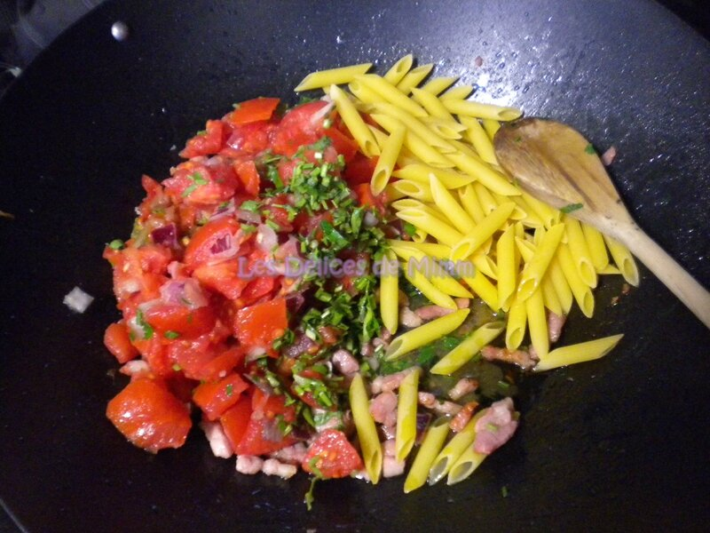 One pan pasta aux lardons