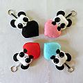 Mes pandas en couleur