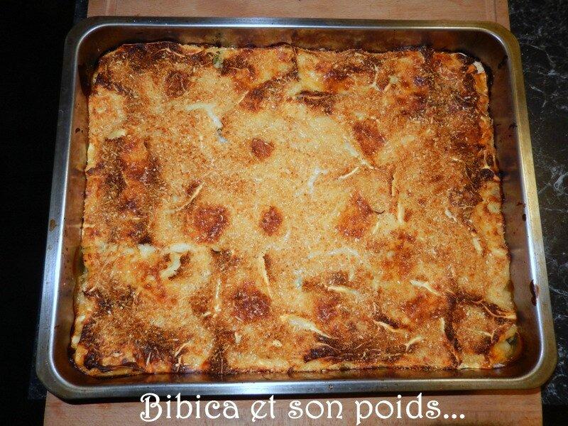 Lasagnes poulet fumé, courgette, brocoli et gorgonzola