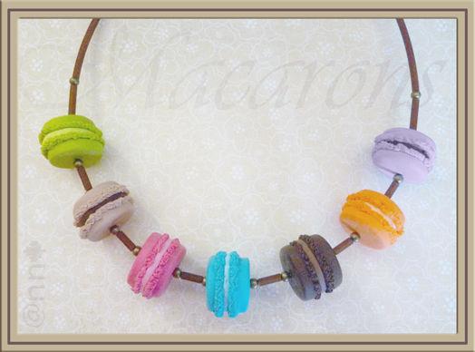 Collier macarons multicolore n° 2 (N)