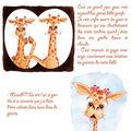bébé girafe découvre ses parents