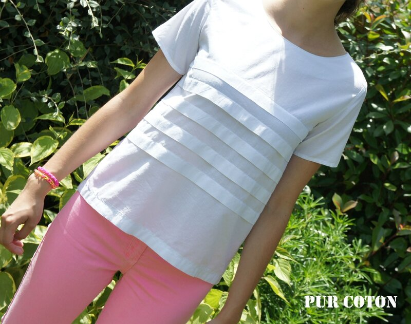 SALME Pleated T-shirt 1