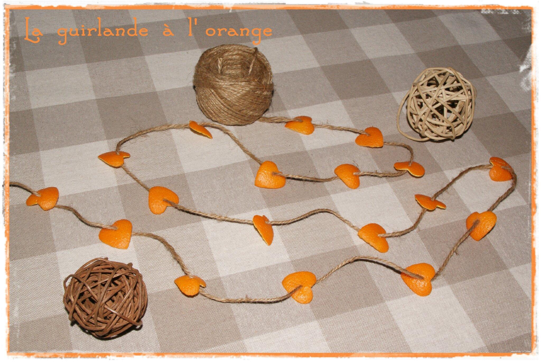 guirlande à l'orange