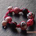 Bracelet shamballa rose