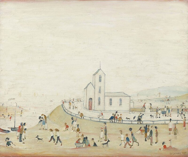 Stephen Lowry, At the Seaside, 1957