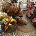 Magrets de canard miel et balsamique aux figues et pommes de terre rôties