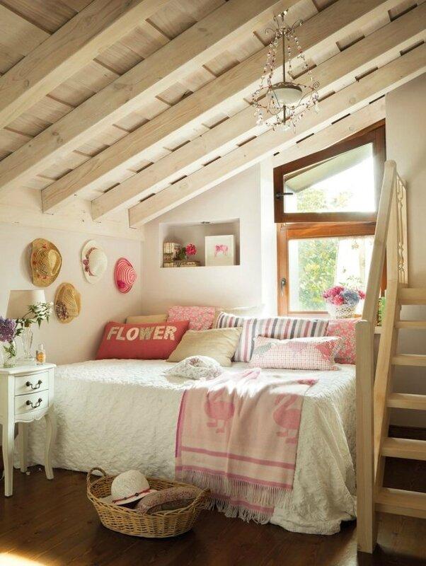 décoration-chambre-romantique-sous-combles