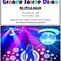 Grande soiree disco le samedi 03 décembre 2011