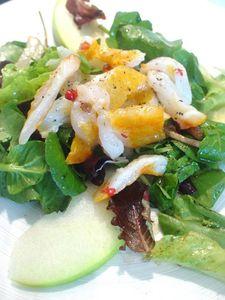 Salade de haddock mariné au cresson et pomme verte