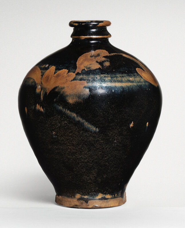 A 'Henan' russet-painted black-glazed meiping, Northern Song-Jin Dynasty (960-1234)