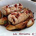 Paupiettes de poulet au chorizo et mozzarella