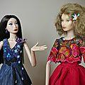 Nina & Marcella en tenues de soirée