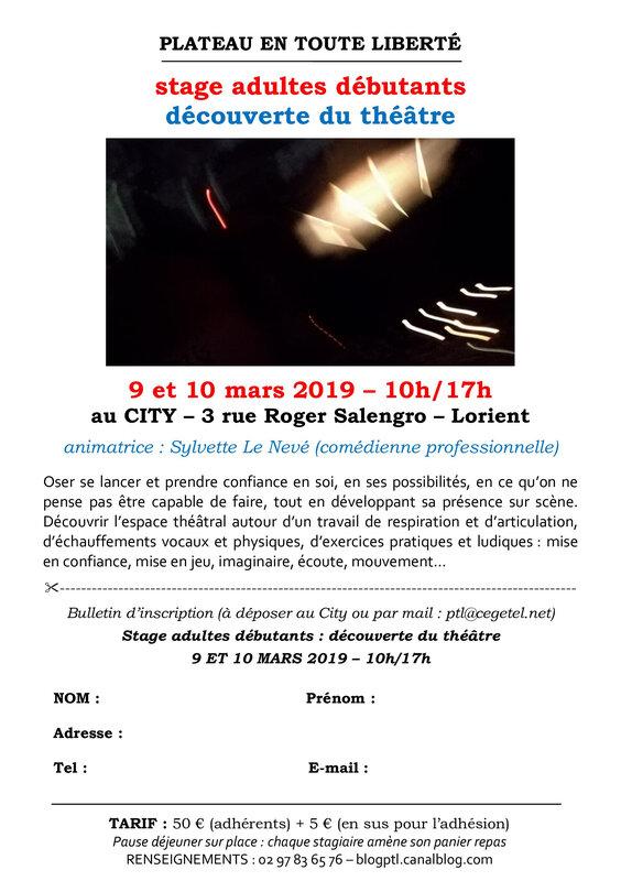 Flyer stage découverte_Sylvette_9_10 mars 2019