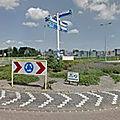 Rond-point à westzaan (pays-bas)