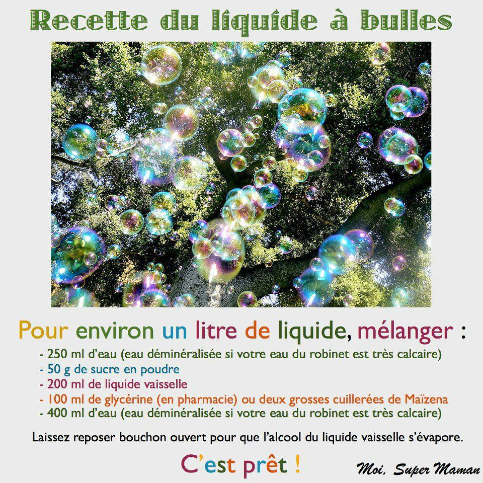 Cest Le Weekend Recette Bulles De Savon Nounoupanda La