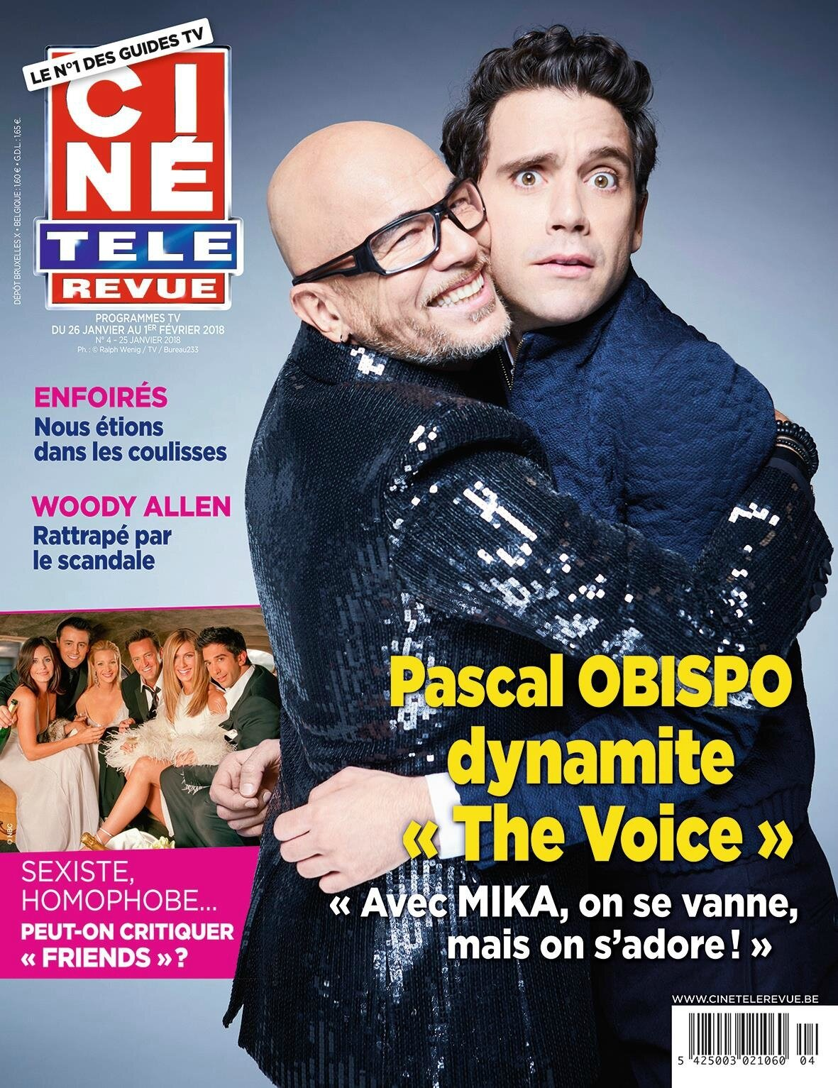 """Pascal Obispo dans """"Ciné Télé Revue"""""""