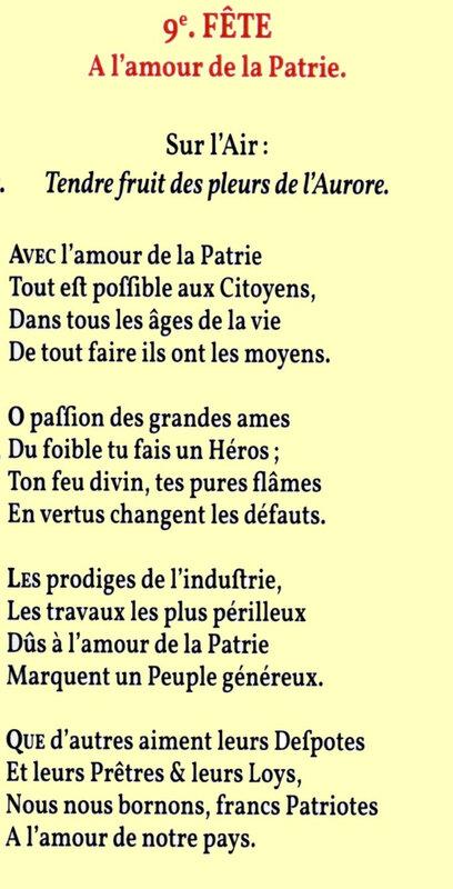 30 frimaire Chant