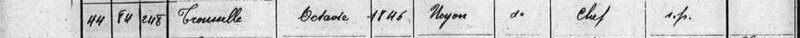 1911, Recensement, Noyon, TROUSELLE, Octavie