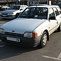 Ford escort break mk iv 1.8 d cl (1986-1990)