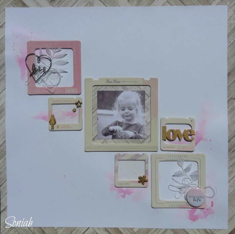 "Page ""Love"", atelier Amélie, Scrap it easy"