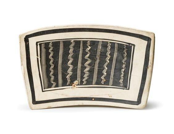 A Cizhou sgraffito'Wave' rectangular pillow, Northern Song dynasty (960-1127)