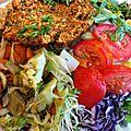 assiette végétarienne du 'Puits de Légumes' (Paris)