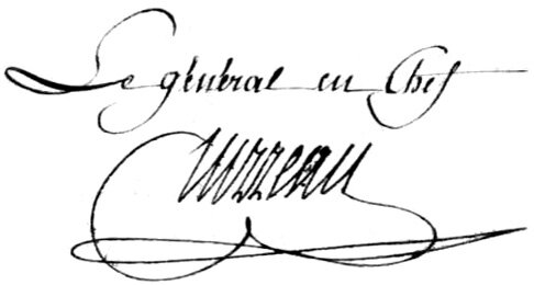 Signature de Turreau