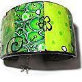 Bracelet patchwork vert face 2