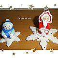 Bonhomme de neige et père Noël