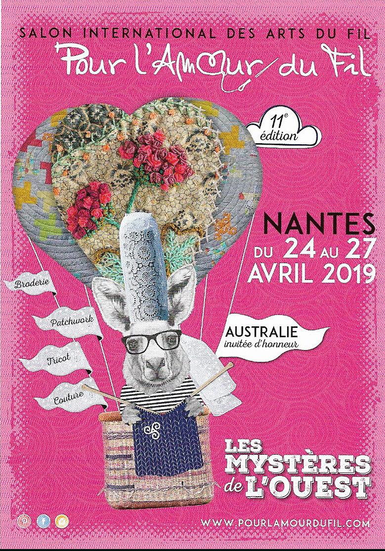 POUR L'AMOUR DU FIL NANTES 24-27 AVRIL 2019