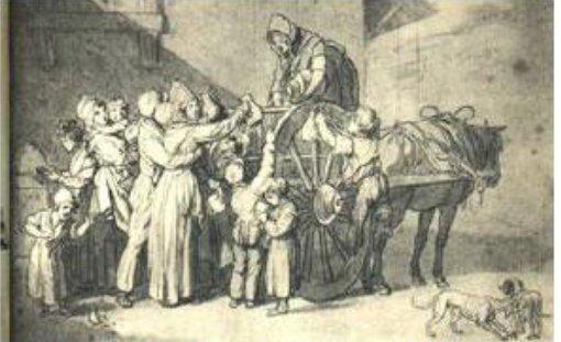 Le 23 septembre 1790 à Mamers : menaces d'émeutes de marché à propos de la libre circulation des grains.