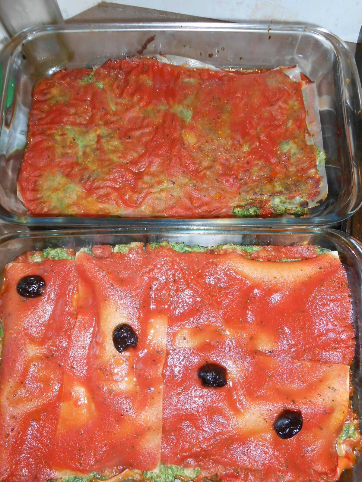Lasagnes aux épinards et au poisson