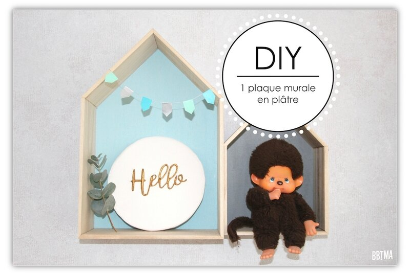 0 plaque blanc or doré déco décoration plaque murale platre scandinave diy tuto giotto fila ambassadrice hello 3D relief do it yourself bbtma blog enfant