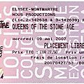 Queens of the stone age - mercredi 9 mai 2007 - elysée montmartre (paris)
